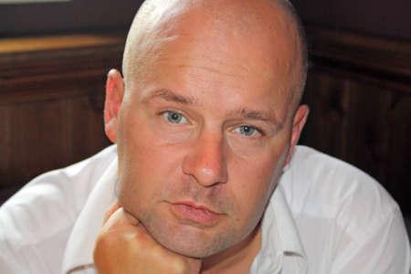 bald man: hombre calvo Foto de archivo