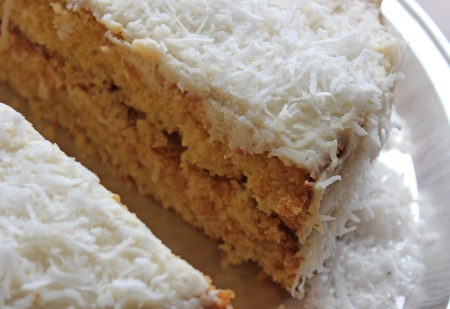 coconut cake photo
