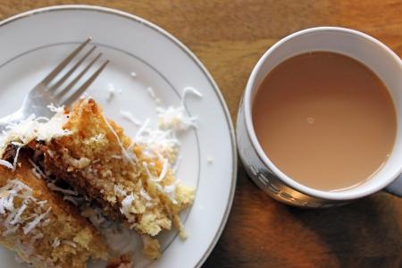 cake and tea Stock Photo - 18514475