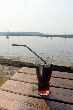 cold drink on a hot day photo