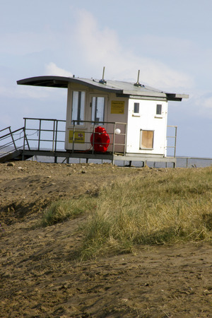 life guard hut on the beach photo