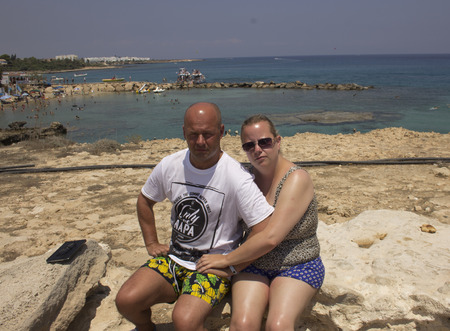 couple on the beach in cyprus