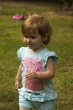 cutie: cutie child walking in the garden