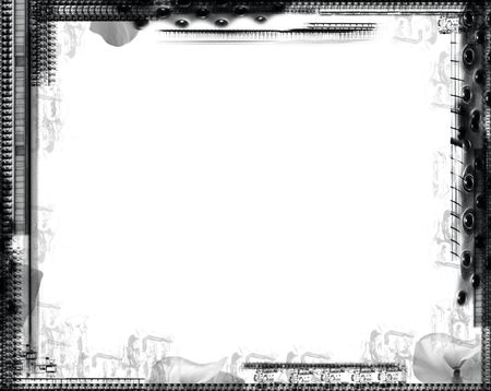 Computer designed grunge border over white Stock Photo - 641255