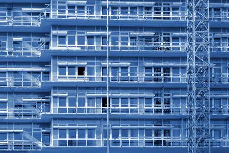 casi: Obra de construcci�n - Construcci�n de la peque�a oficina bulding casi terminado Foto de archivo