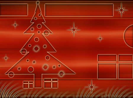 Computer designed christmas background Stock Photo - 728082