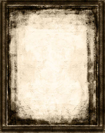 Computer designed grunge border and aged paper background Stock Photo - 851494