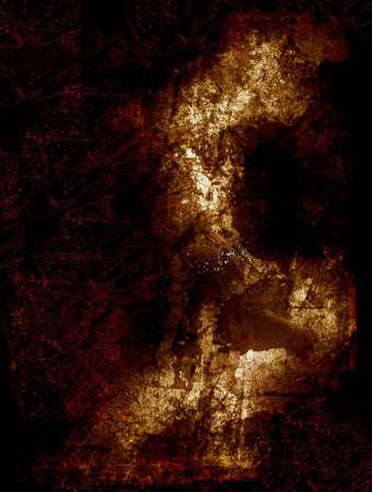 Computer designed textured dark grunge background photo