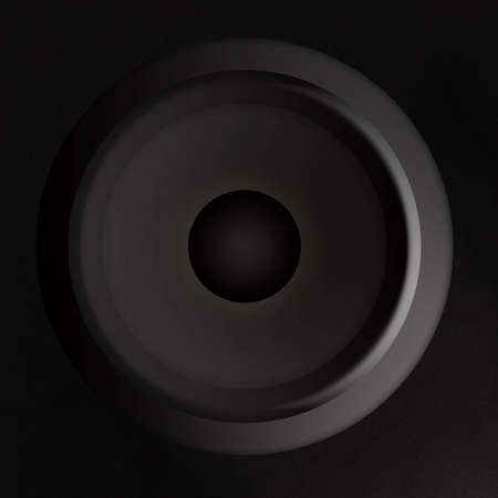 woofer: Illustration of a black speaker Stock Photo