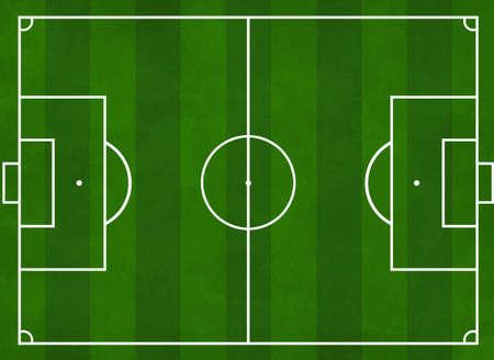 campeonato de futbol: Con textura ilustraci�n de un campo de f�tbol con rayas verdes  Foto de archivo