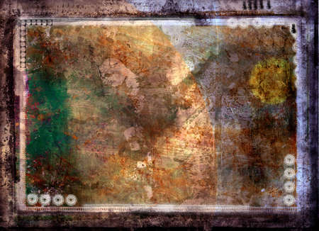 Computer designed grunge border and aged textured background Stock Photo - 851791