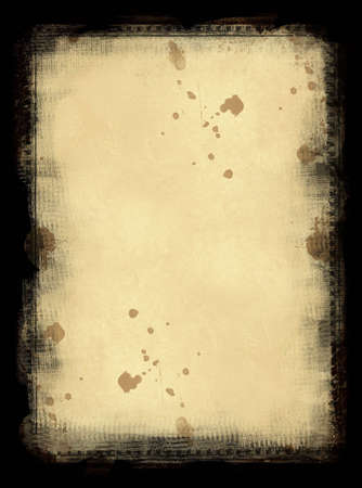 noises: Computer designed grunge border and aged textured paper background