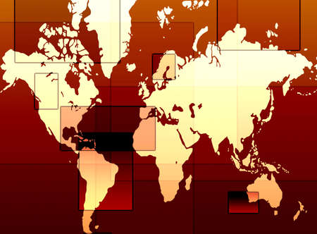 designed: Computer designed  abstract background - world map background Stock Photo