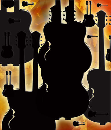 Computer designed grunge guitar background photo