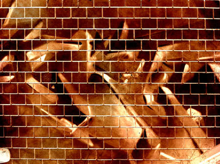 cemented: Computer designed grunge textured graffiti brick wall background