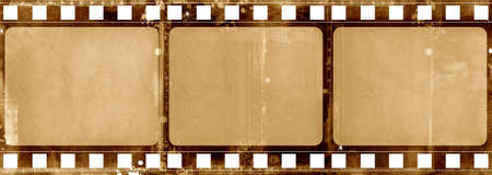 film frame: Computer designed highly detailed grunge textured film frame with space for your text or image Stock Photo