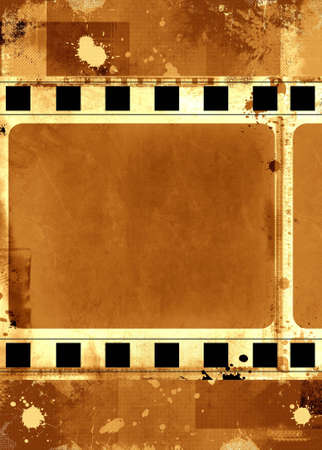Computer designed highly detailed grunge textured film frame with space for your text or image Stock Photo - 2660629