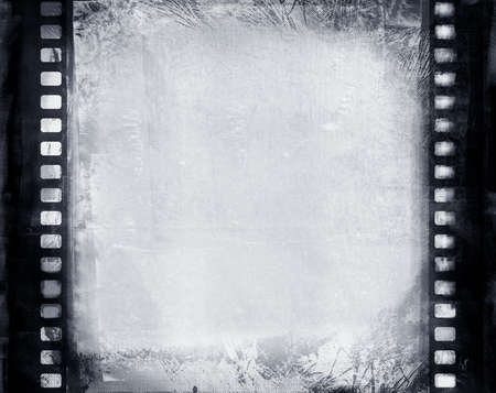 photographic film: Computer designed highly detailed grunge textured film frame with space for your text or image Stock Photo