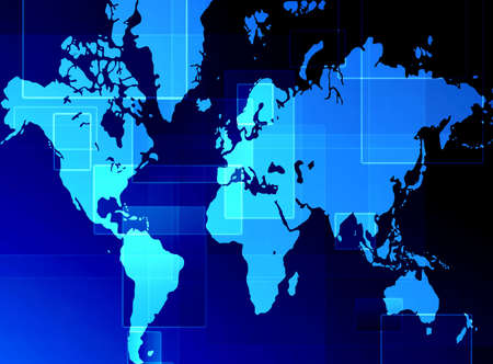Computer designed abstract world map background Stock Photo - 2660516