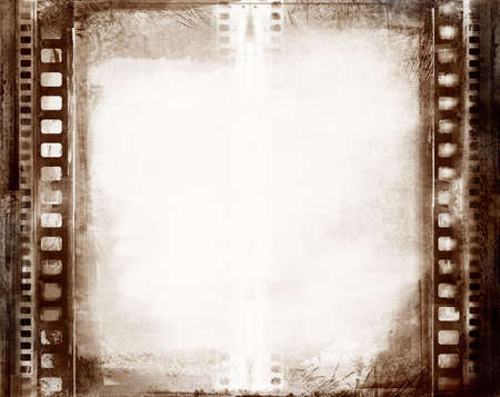 film negative: Computer designed highly detailed grunge textured film frame with space for your text or image Stock Photo