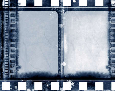 Computer designed highly detailed grunge textured film frame with space for your text or image Stock Photo
