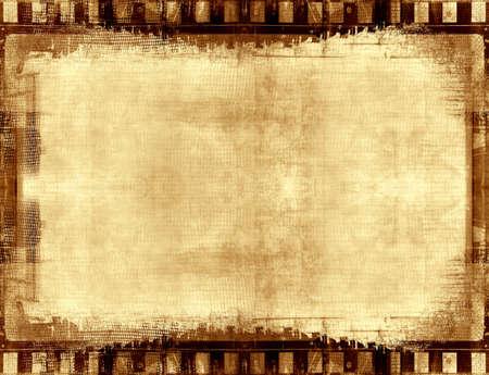 an overlay: Ordenador dise�ado muy detallada grunge pel�cula marco y los antecedentes con espacio para el texto o la imagen
