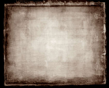 highly: Computer designed highly detailed grunge border and aged textured paper background with space for your text or image Stock Photo