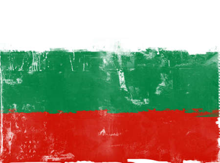 highly: Computer designed highly detailed grunge illustration - Flag of Bulgaria
