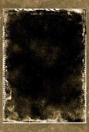 layer mask: Computer designed highly detailed grunge textured border and aged paper background with space for your text or image Stock Photo