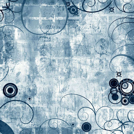 highly: Computer designed highly detailed grunge textured abstract background Stock Photo
