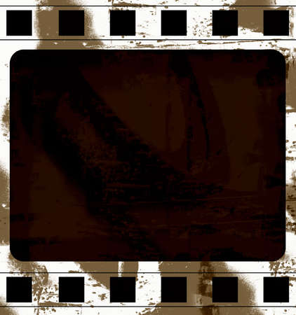 highly: Computer designed highly detailed grunge film frame with space for your text or image