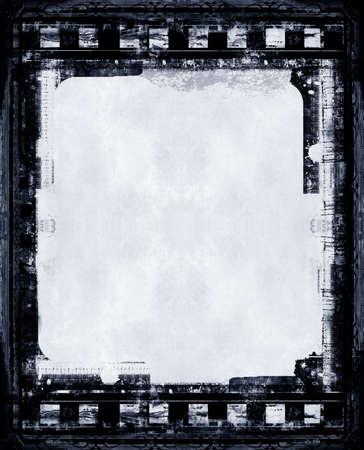 lembo: Computer progettati altamente dettagliato grunge film frame con spazio per il testo o l'immagine