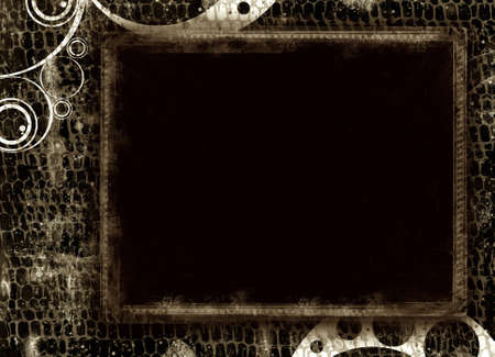 Computer designed highly detailed grunge border , great grunge layer for your projects. Stock Photo - 3859231