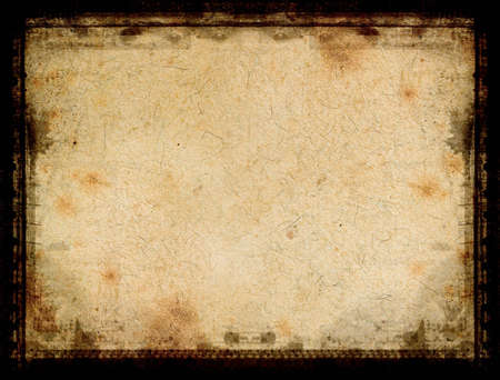 highly: Computer designed highly detailed grunge textured border and aged paper background with space for your text or image Stock Photo