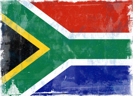 Computer designed highly detailed grunge illustration - Flag of South Africa
