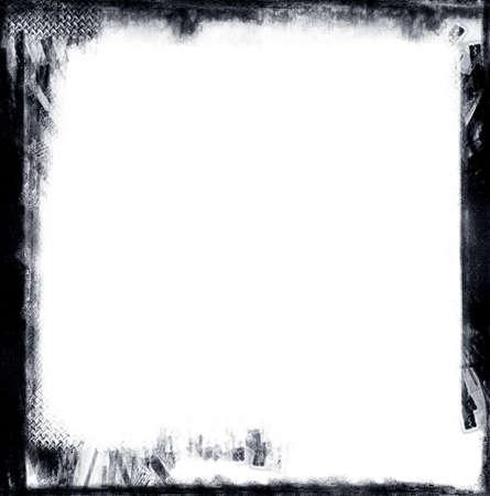 nakładki: Wyliczona zaprojektowane gronge czarne obramowanie nad białym. Element grunge miły dla potrzeb projektów Zdjęcie Seryjne