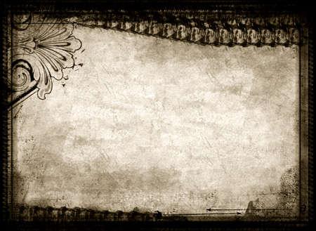 nakładki: Komputer zaprojektowany bardzo szczegółowe grunge teksturowanej granicy wieku papier i tła z miejsca na tekst lub zdjęcie. Great grunge elementem dla projektów