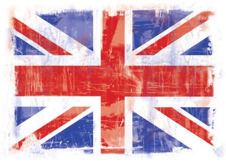 Highly detailed grunge illustration of the flag of Great Britain Stock Illustration - 3868283