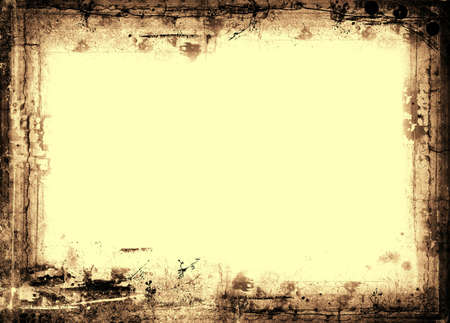 grunge layer: Computer designed highly detailed  border and aged textured  background with space for your text or image. Nice grunge layer for your projects.