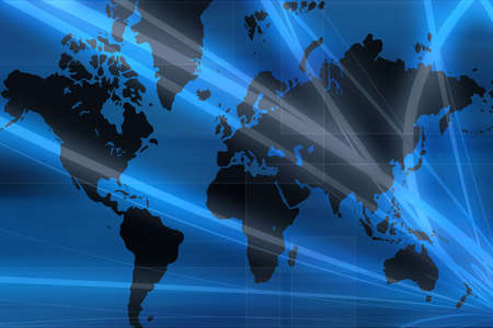 Computer designed world map business background Stock Photo - 3885269