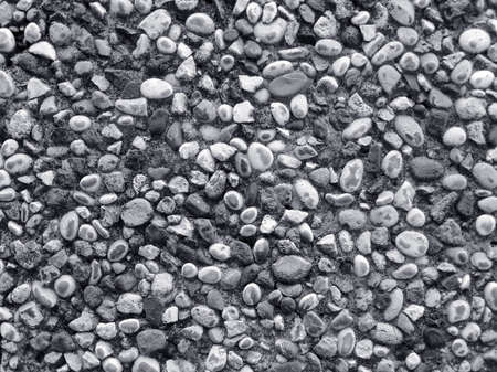 Wall made of small river stones , BW photo , nice texture for your projects Stock Photo - 3885290
