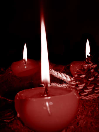 Christmas candles in the holy night Stock Photo - 3885167