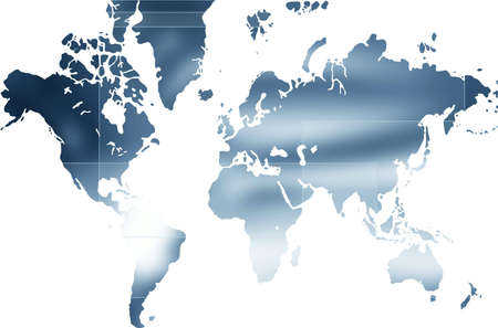 designed: Computer designed world map business background
