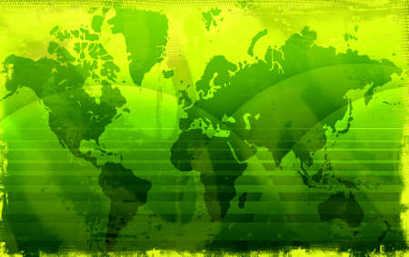 highly: Computer designed highly detailed grunge world map background Stock Photo