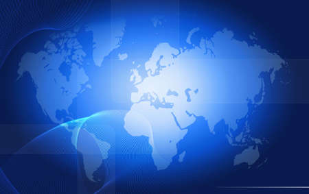 designed: Computer designed high resolution world map Stock Photo