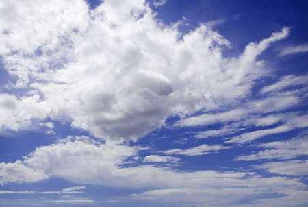 Beautiful white clouds and blue sky on a sunny day Stock Photo - 3920453
