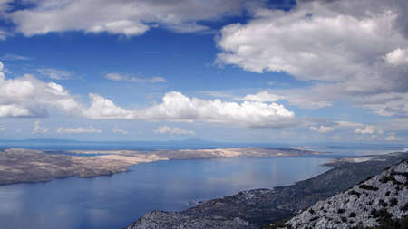 wreckage: Landscape of beautiful Mediterranean islands as seen up from the near mountains