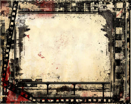 Computer designed high resolution grunge film frame with space for your text or image. Great grunge layer for your projects