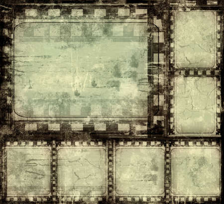 digital frame: Computer designed highly detailed film frame with space for your text or image.Nice grunge element for your projects