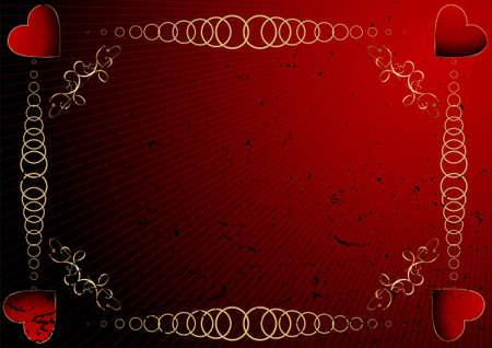 Grunge editable Valentines day background photo